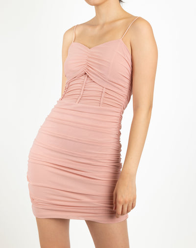 Ruched Detail  Bodycon Dress - Berness