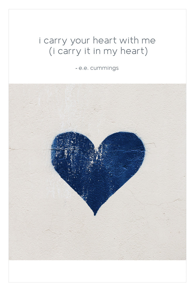 Card: I Carry Your Heart - eecummings (set of 5)