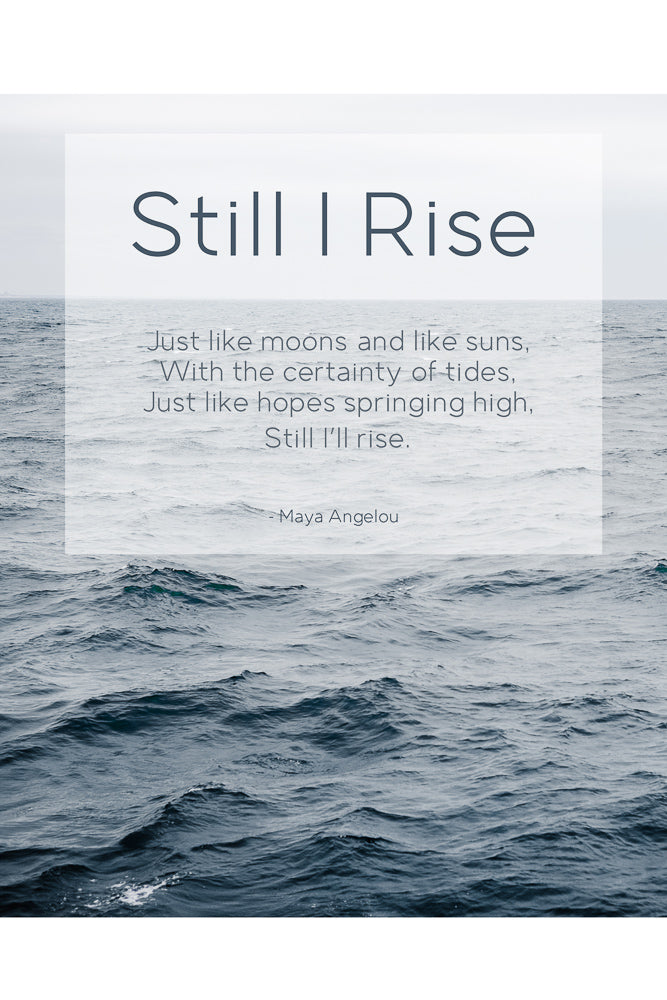 Card: Ocean - Still I Rise - Maya Angelou (set of 5)