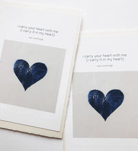 Load image into Gallery viewer, Card: I Carry Your Heart - eecummings (set of 5)