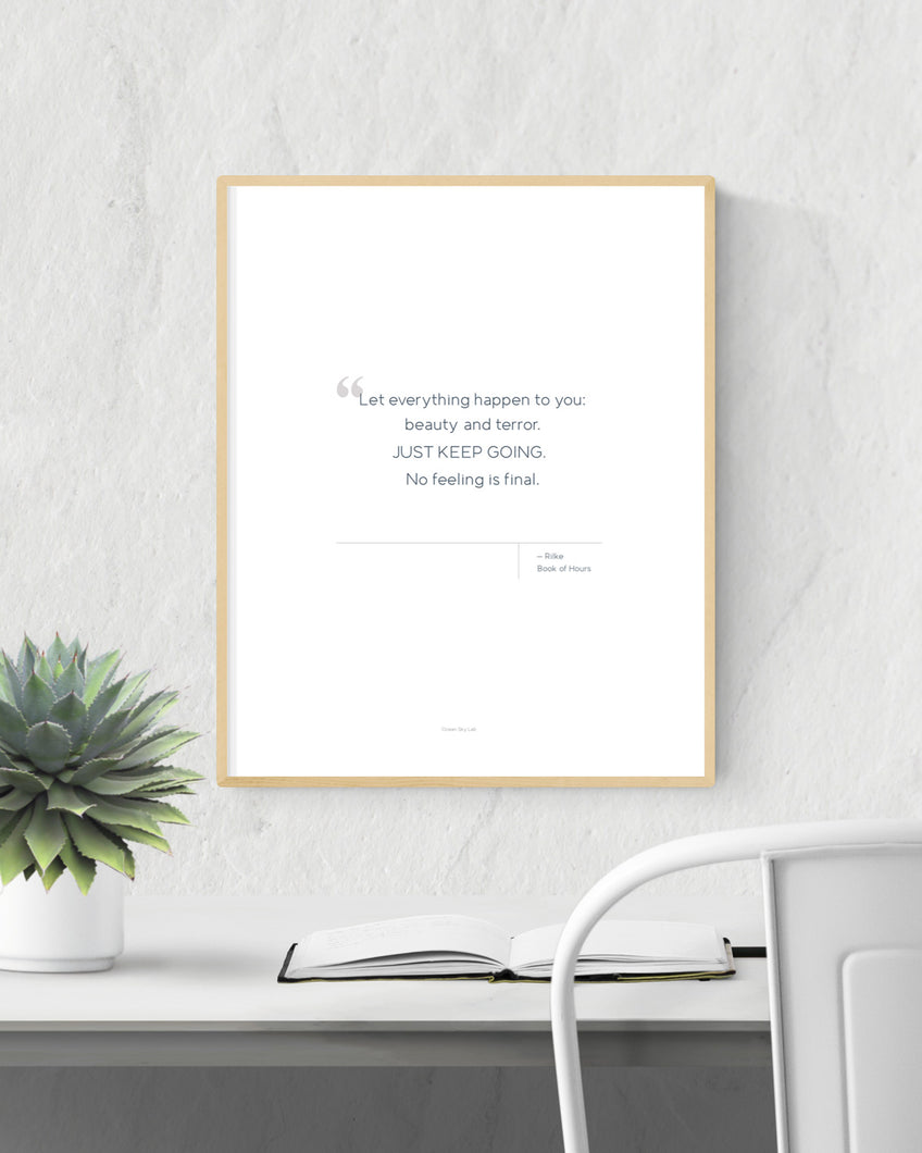 Printable Quote - Rilke - Keep Going