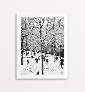Parisian Playground Under the Snow