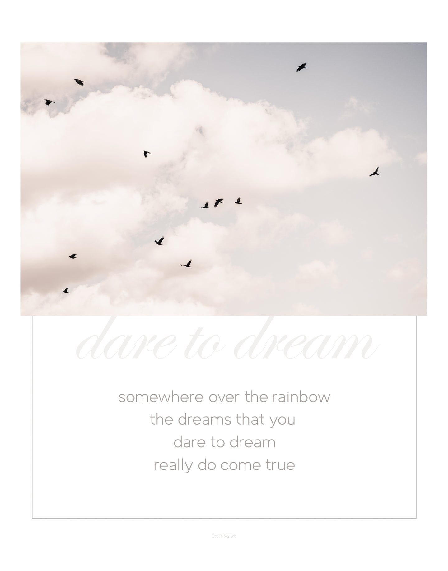 Quote Print: Over the Rainbow