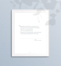 Load image into Gallery viewer, Printable Quote - Rilke - Live the Questions Now