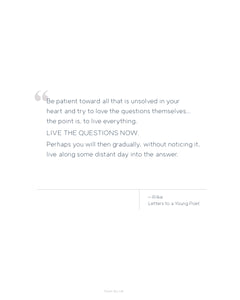Printable Quote - Rilke - Live the Questions Now