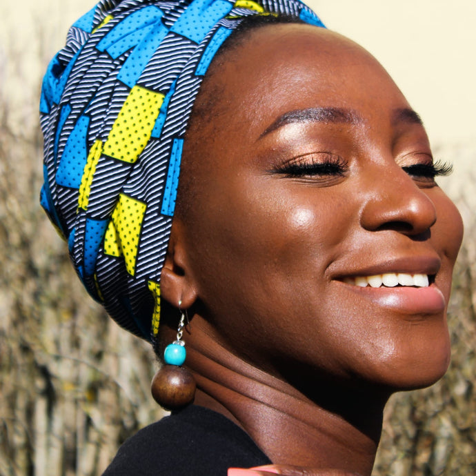 Makafui Kollection Foulard hydrat'Jour BLUE BIRD
