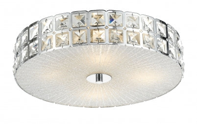 Marisa 40 cm Round Crystal Oyster