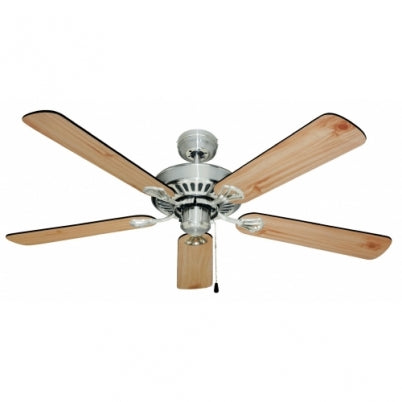 Hayman 1300mm Brushed Chrome Ceiling Fan By Mercator