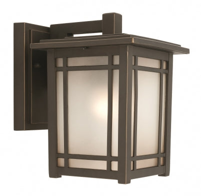 Sierra Small Oil Rubbed Bronze with Frost Diffusser Wall Light