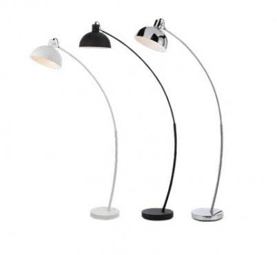 Beat Chrome Arc Floor Lamp