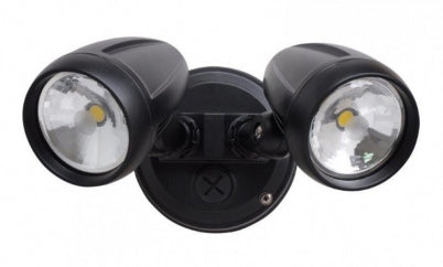 PHL4205 Black Double LED Exterior Flood Spotlight