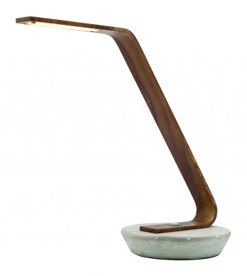 Harrison Concrete and Timber Arm LED Touch Lamp