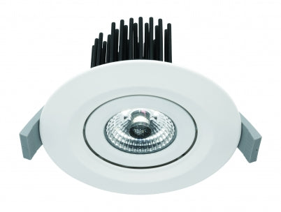 Mezzo IP65 White Gimble LED Downlight 5000k
