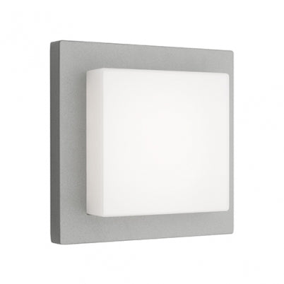 Bodo Silver Square Deep Layered Exterior Wall Light