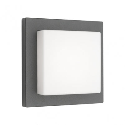 Bodo Charcoal Square Deep Layered Exterior Wall Light