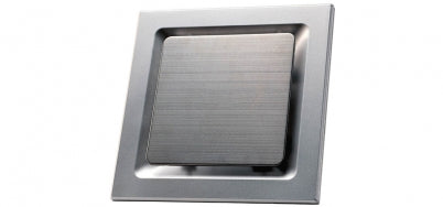 Ovation 250 Silver Square Layered Exhaust Fan