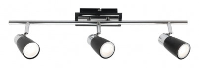 Alecia Black 3 Light Bar 9W LED Spotlight