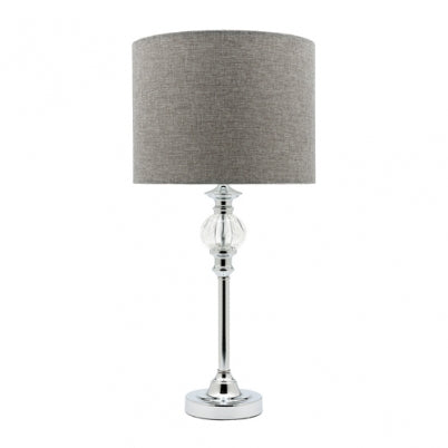 Beverly Chrome and Crystallic Cored Table Lamp