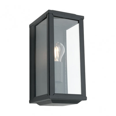 Anglesea Box Lantern Exterior Wall Light Black