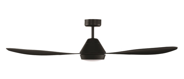 Nevis Black DC Motor Ceiling Fan with LED Light
