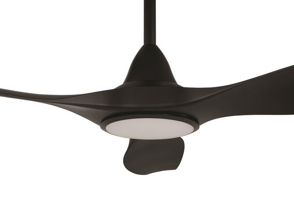 Noosa 152cm Black DC Motor Ceiling Fan with LED Light