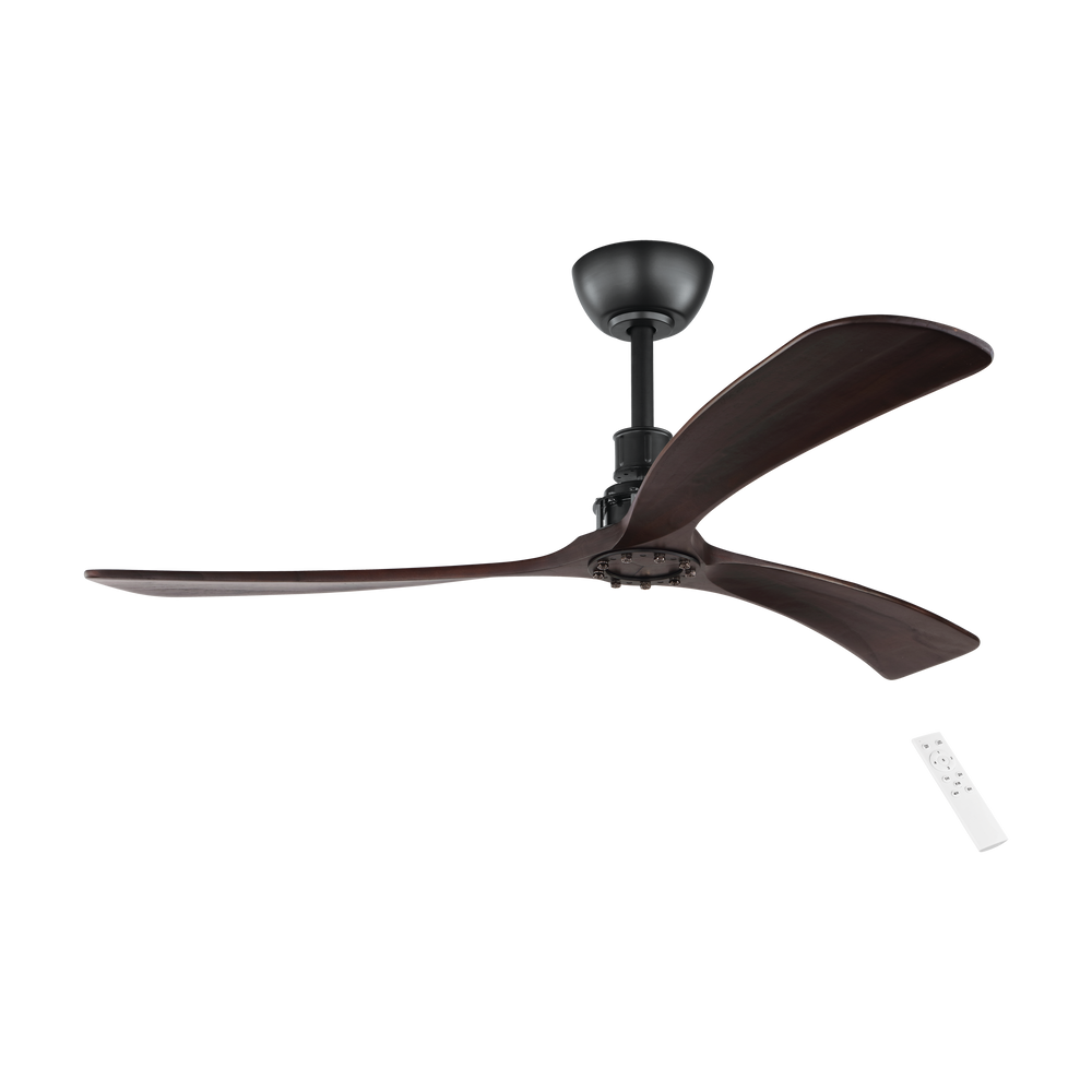 Zapallar Dark Timber 132cm DC Motor Ceiling Fan