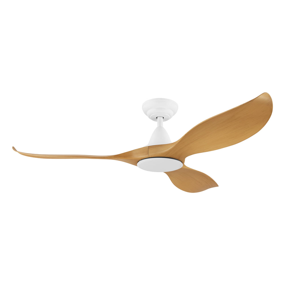 Noosa 132cm Bamboo and White DC Motor Ceiling Fan