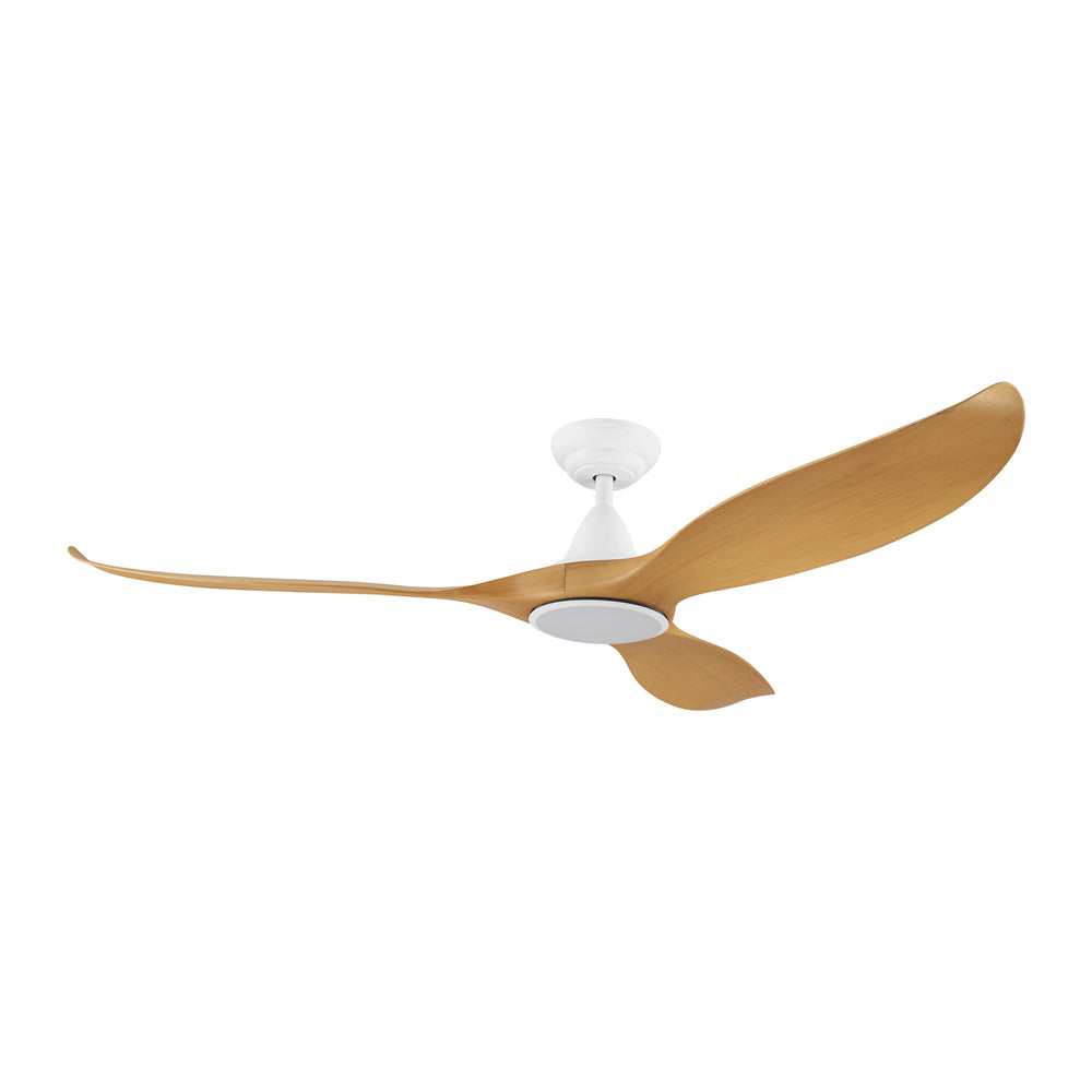 Noosa 152cm Bamboo and White DC Motor Ceiling Fan with LED Light