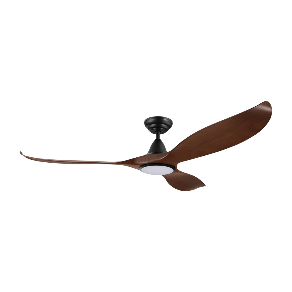 Noosa 152cm Aged Elm and Black DC Motor Ceiling Fan with LED Light