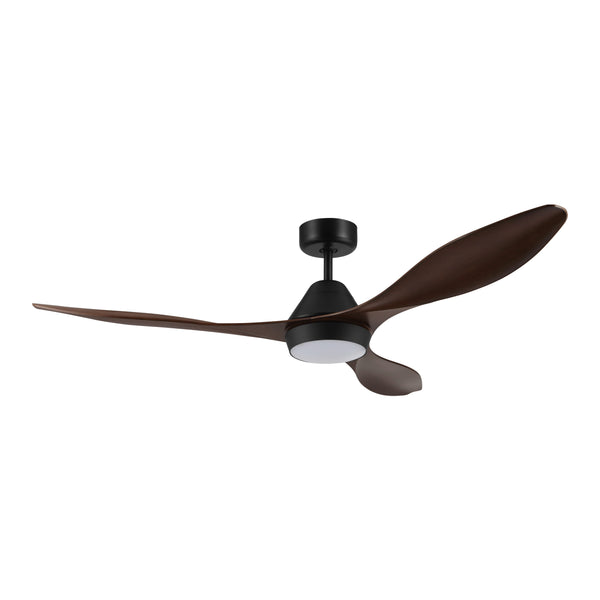 Nevis Aged Elm DC Motor Ceiling Fan with LED Light