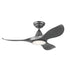 "Noosa 40""/102cm Titanium LED Light DC Motor Ceiling Fan"