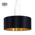 EO 31605 53cm Black/Gold Drum Shade Pendant