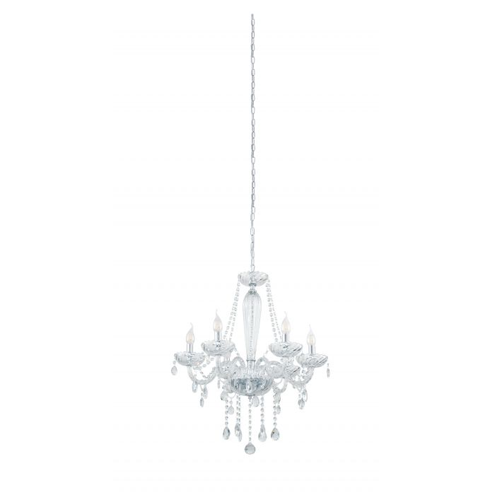 Basilano 6 Light Clear Crystal Glass Chandelier Traditional Pendant