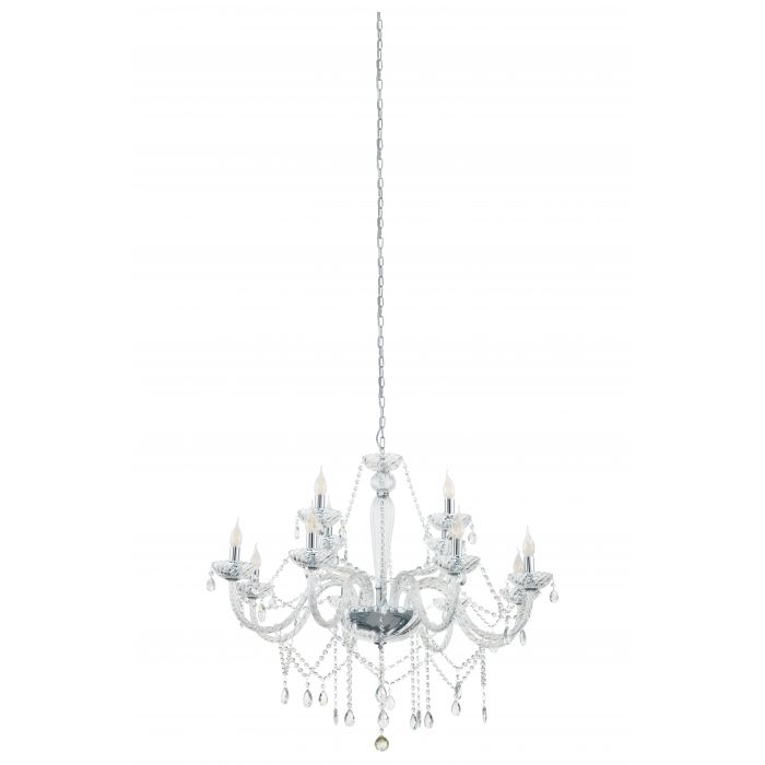 Basilano 12 Light Clear Crystal Glass Chandelier Traditional Pendant