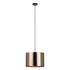 Saganto 1 Small Brown Copper Drum Shade Pendant.