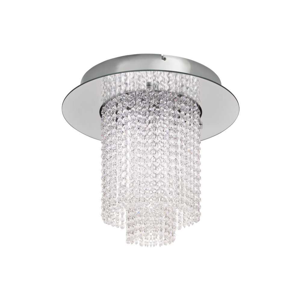 Vilalones Chrome Close to Ceiling Crystal