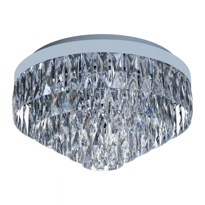 Valparaiso 8 Light Chrome and Crystal Close to Ceiling Light