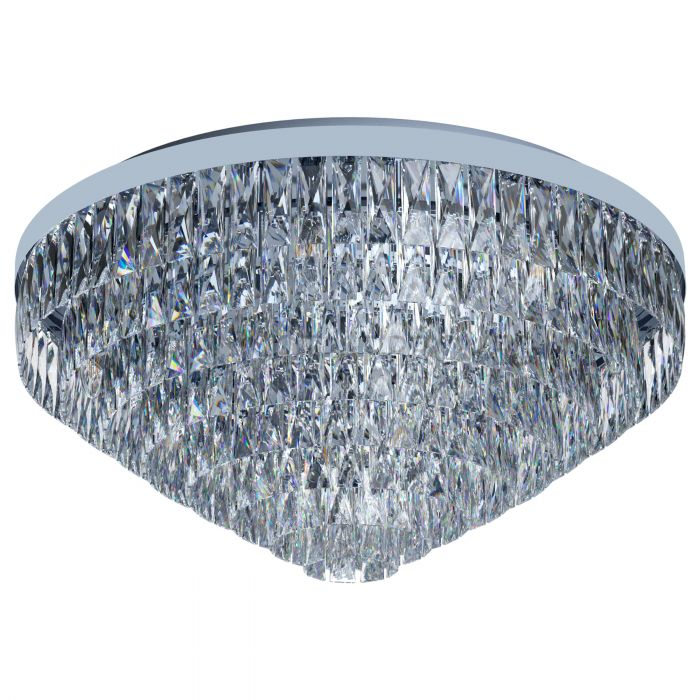 Valparaiso 16 Light Chrome and Crystal Close to Ceiling Light