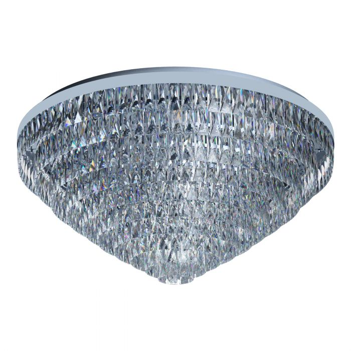 Valparaiso 25 Light Chrome and Crystal Close to Ceiling Light