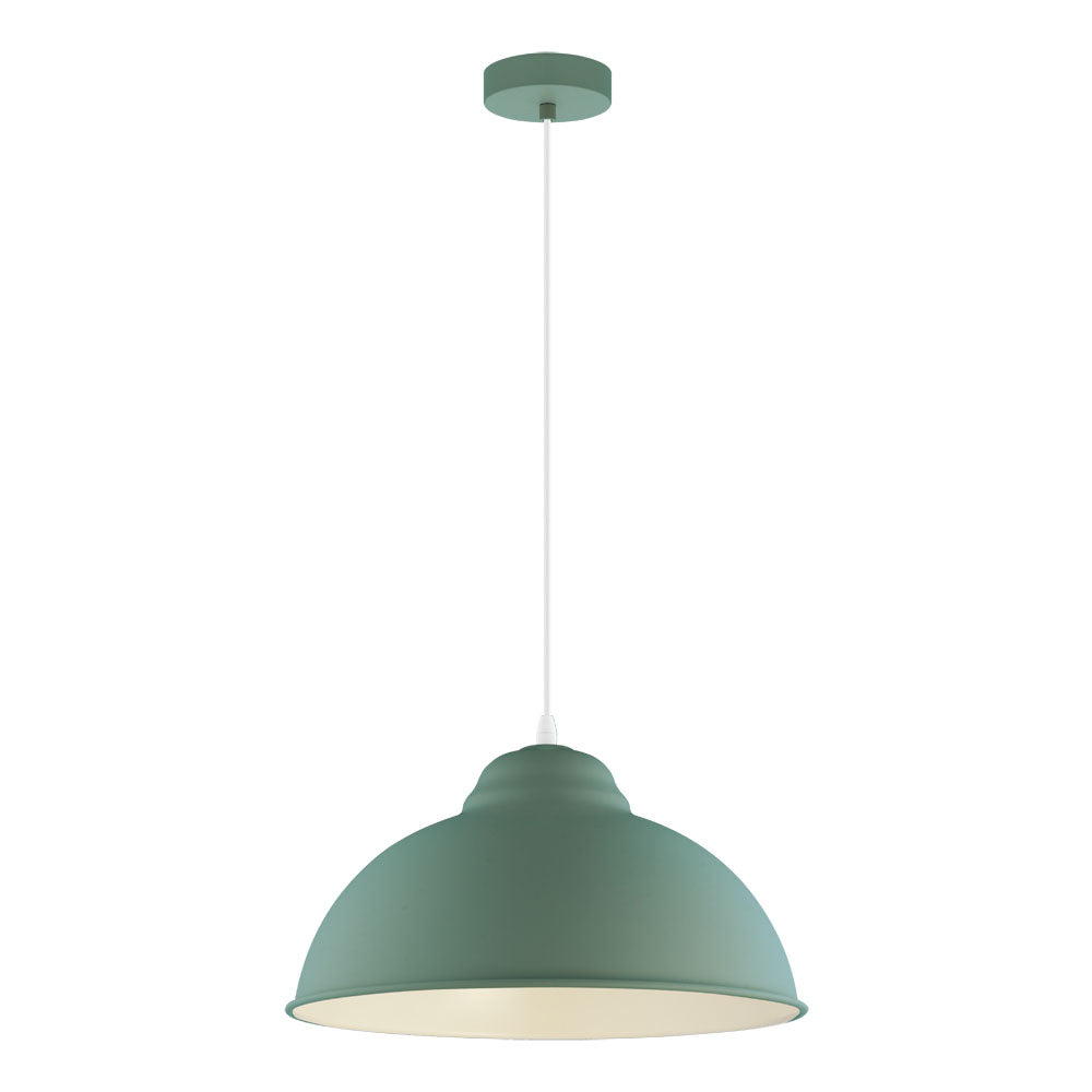 Truro Pastel Dark Green 370mm Pendant