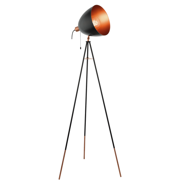 Chester Black and Copper Floor Lamp
