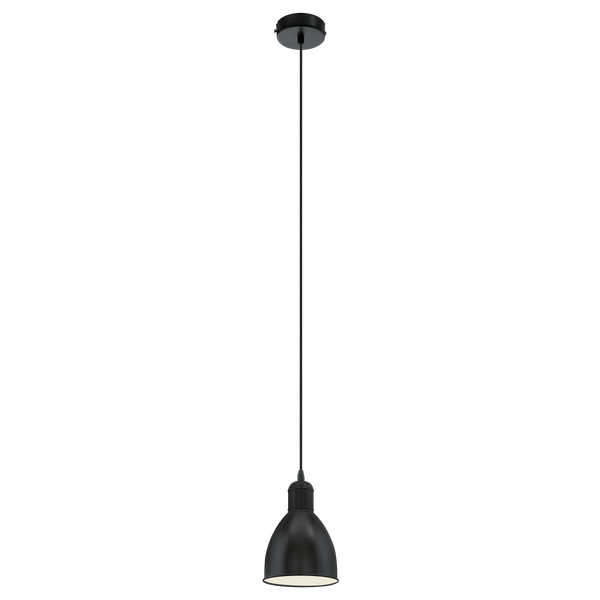 Priddy Black Single Pendant