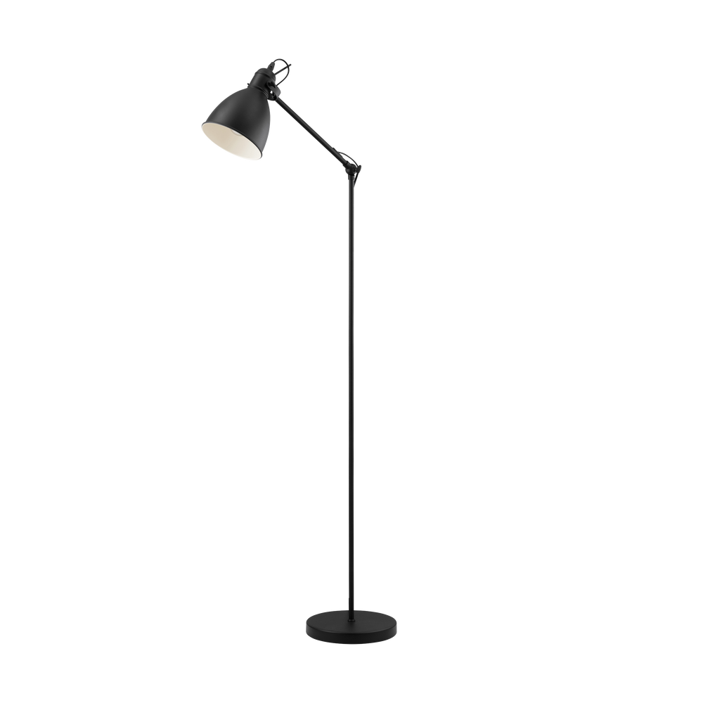 Priddy Black Floor Lamp