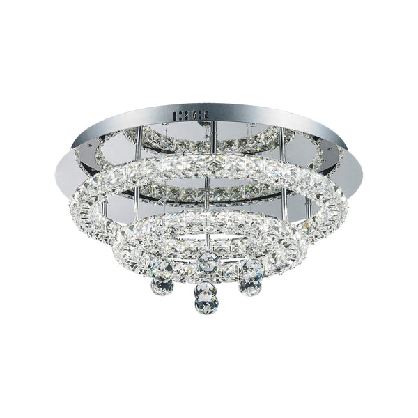 Horos 27wt Multi Tier Round Crystal Frame and Drops LED Ceiling Light