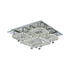 Sorac 60w  Multi Tier Square Crystal Frame and Drops LED Ceiling Light