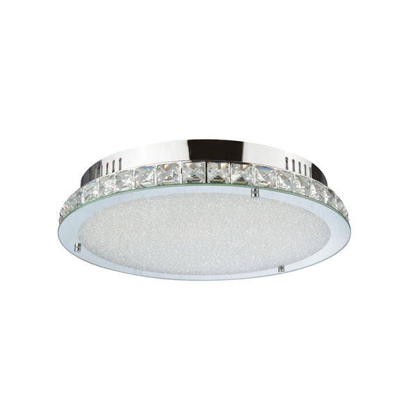 Sparkle 18wt Round Crystal Frame LED Ceiling Light