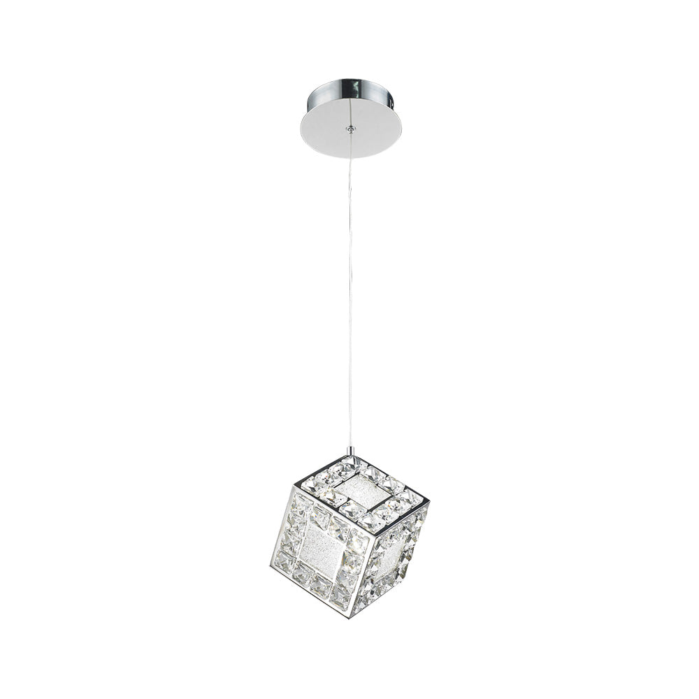 TESSERACT 8W LED CRYSTAL PENDENT LIGHT
