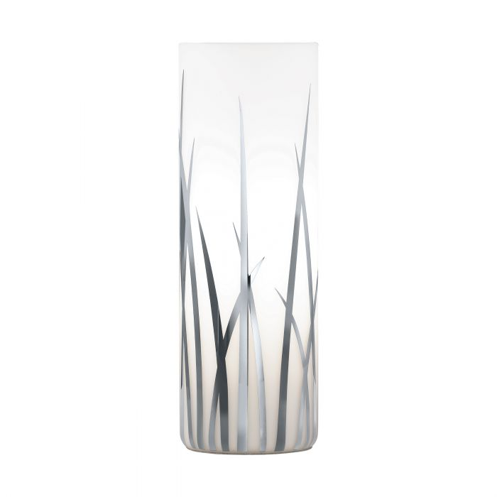 Rivato Chrome Grass Print Table Lamp