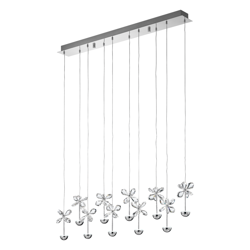 Pianopoli Linear Bar Crystal Butterfly Pendant