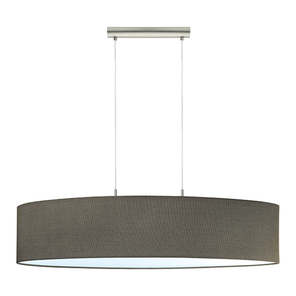 EO 96383 Brown Long Oval Drum Fabric Shade Pendant